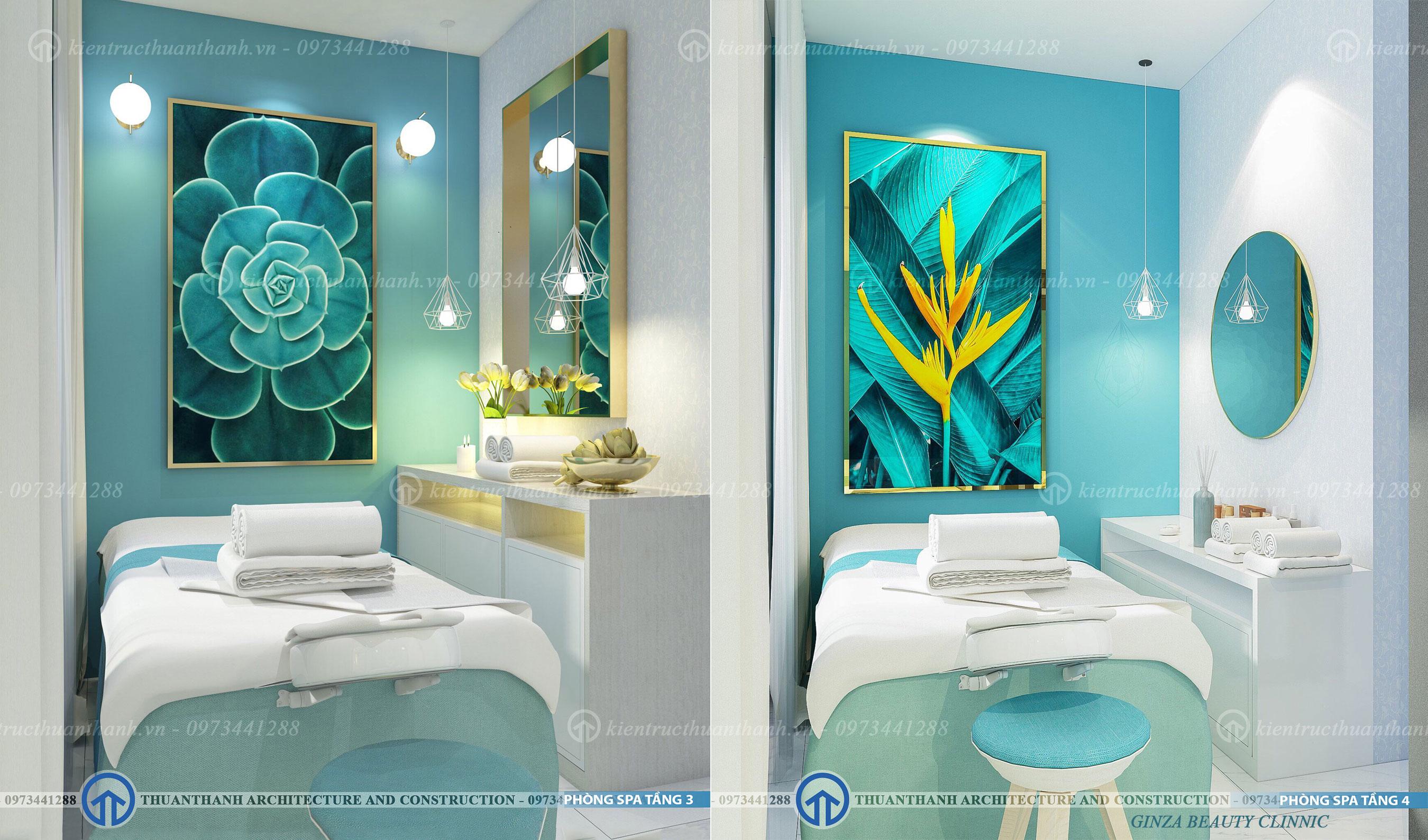 thiết kế trung tâm spa